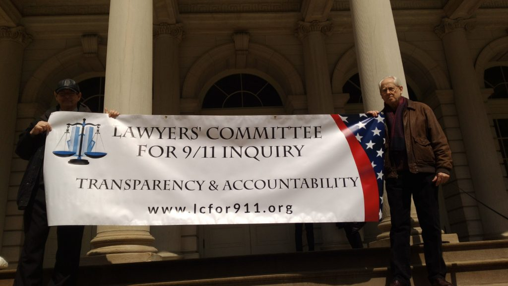 Lawyers' Committee Supporters attend Press Conference on steps of NYC Hall
