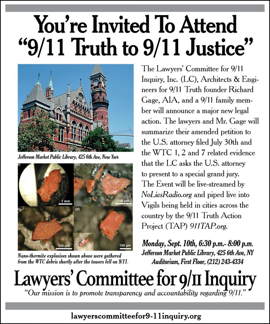 9/11 Truth to 9/11 Justice Flyer
